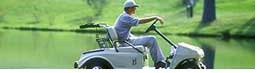 photo of CaseyMartin in his golf cart on a golf course