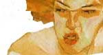 detail from painting of woman by Egon Schiele