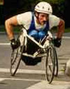 photo of wheelchair racer